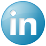 social linkedin button blue 128