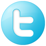 social twitter button blue 128